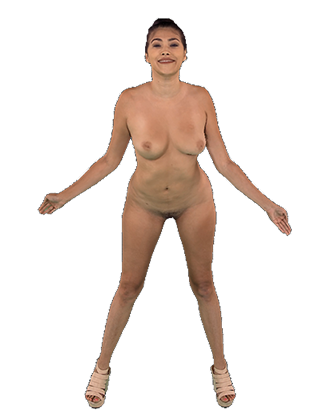 Stephanie West standing naked and shaking her tits Hologram