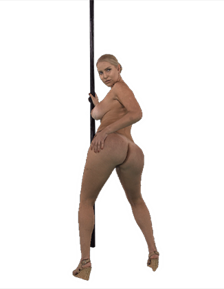 Vanessa Cage shaking her big ass on the pole Hologram